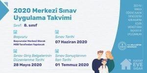 2020 Merkezî Sınav Uygulama Takvimi