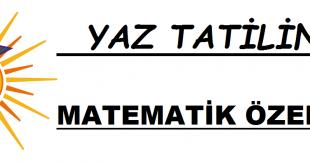 Yaz tatilinde matematik özel ders verenler